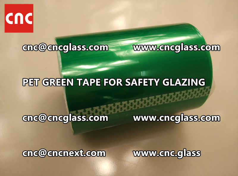 SILICONE GREEN TAPE for safety glazing lamination (2)