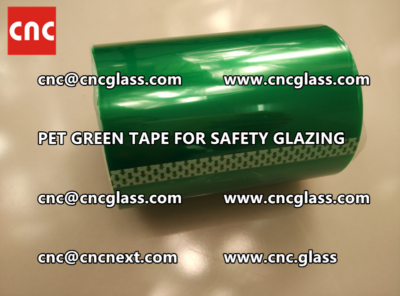 SILICONE GREEN TAPE for safety glazing lamination (3)