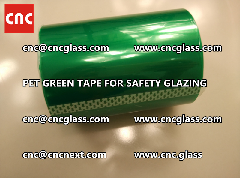 SILICONE GREEN TAPE for safety glazing lamination (4)