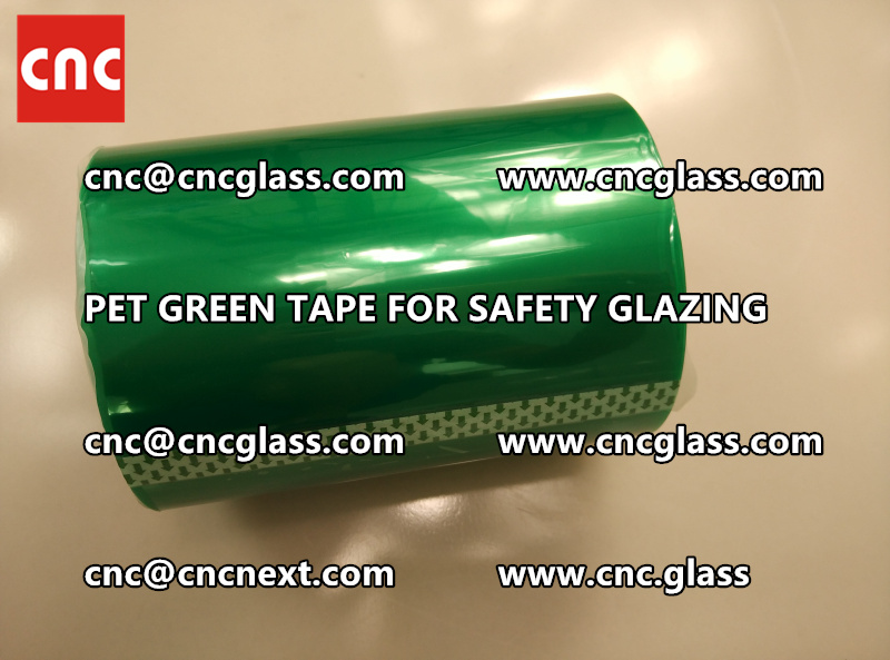 SILICONE GREEN TAPE for safety glazing lamination (5)
