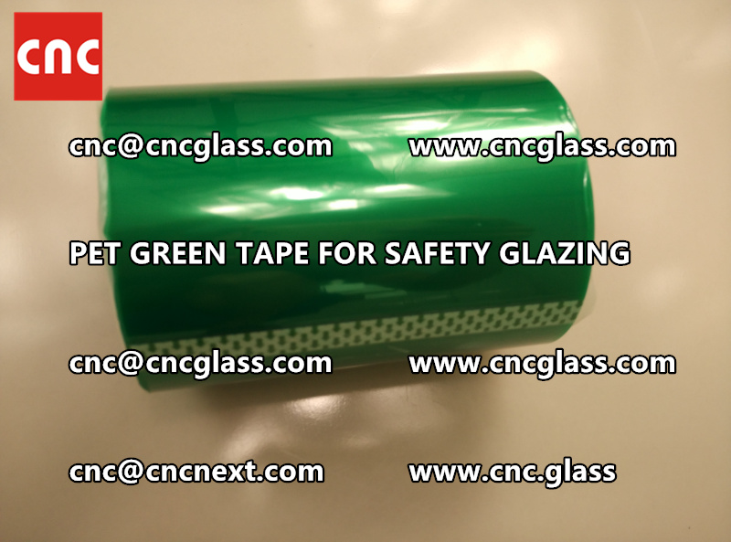 SILICONE GREEN TAPE for safety glazing lamination (6)