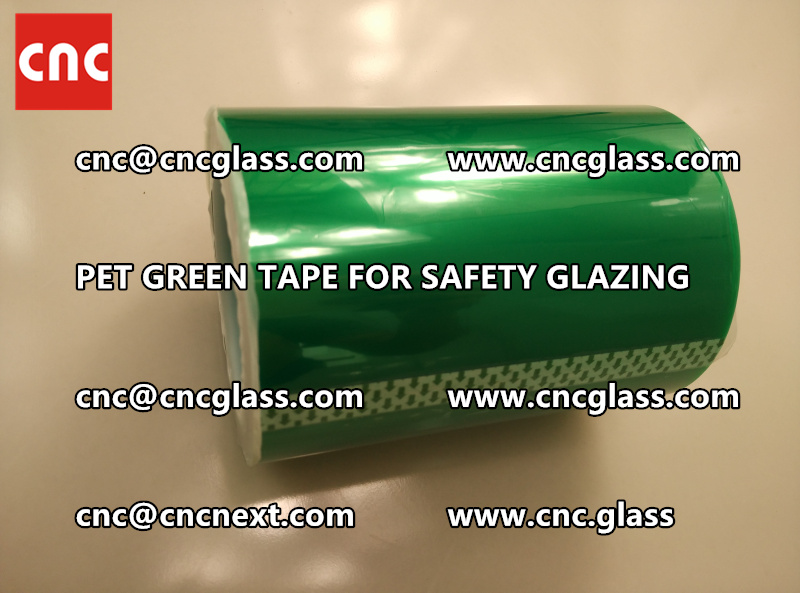 SILICONE GREEN TAPE for safety glazing lamination (7)