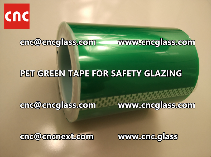 SILICONE GREEN TAPE for safety glazing lamination (8)