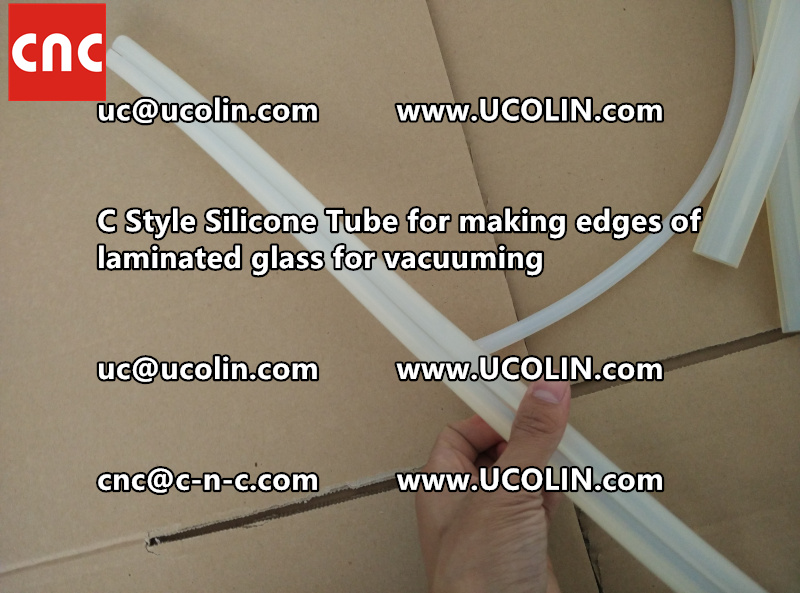 C Style Silicone Tube for making edges of laminated glass for vacuuming (2)
