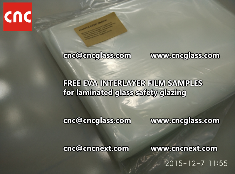 FREE EVA GLASS INTERLAYER samples for laminated glass (1)