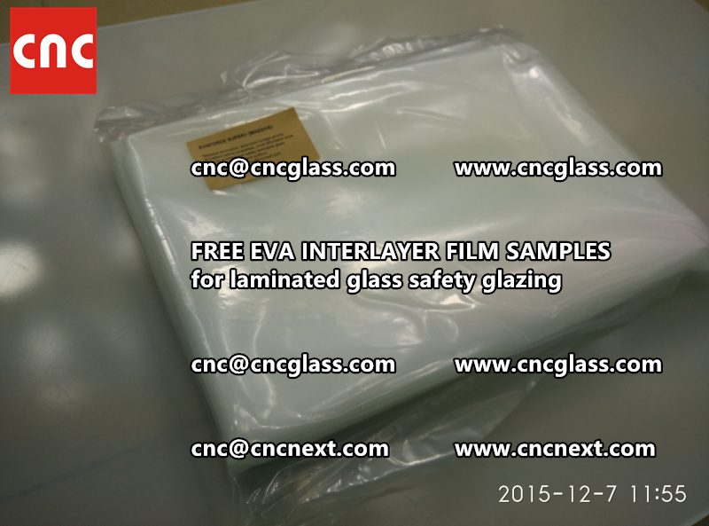 FREE EVA GLASS INTERLAYER samples for laminated glass (10)