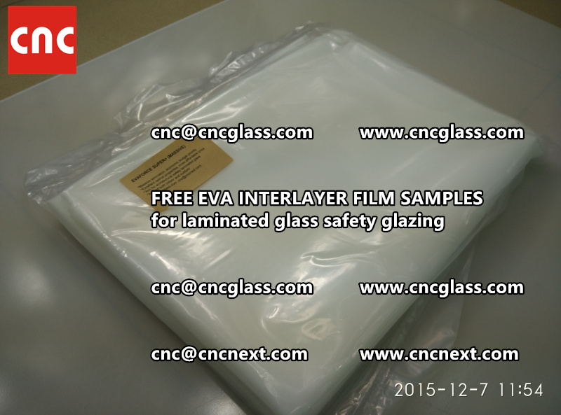 FREE EVA GLASS INTERLAYER samples for laminated glass (2)