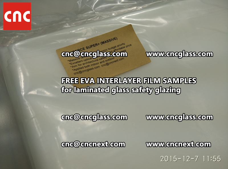 FREE EVA GLASS INTERLAYER samples for laminated glass (20)
