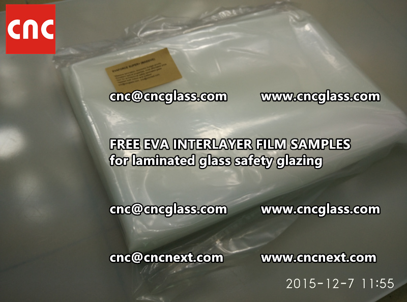 FREE EVA GLASS INTERLAYER samples for laminated glass (8)