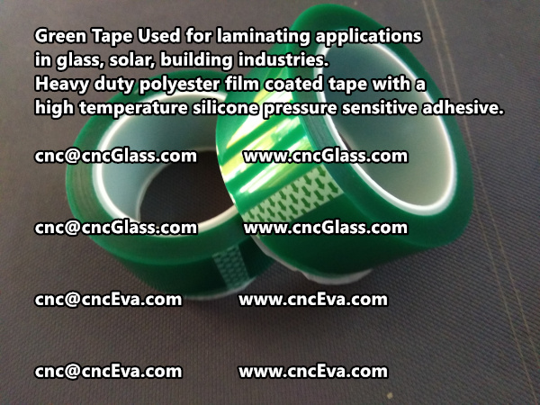 Green tape is made of Heavy duty polyester film coated tape with a high temperature silicone pressure sensitive adhesive (4)