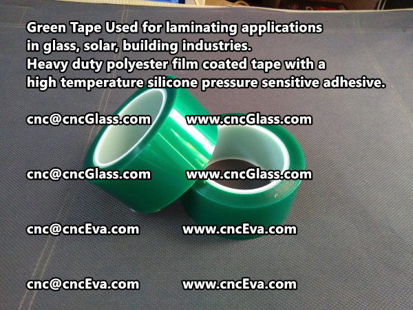 Green tape is made of Heavy duty polyester film coated tape with a high temperature silicone pressure sensitive adhesive (8)